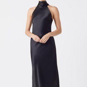 Galvan London Black Sienna Halter Gown